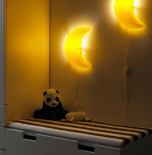 ikea smila m ne kinderlampe wandleuchte wandlampe lampe leuchte mond a ebay. Black Bedroom Furniture Sets. Home Design Ideas