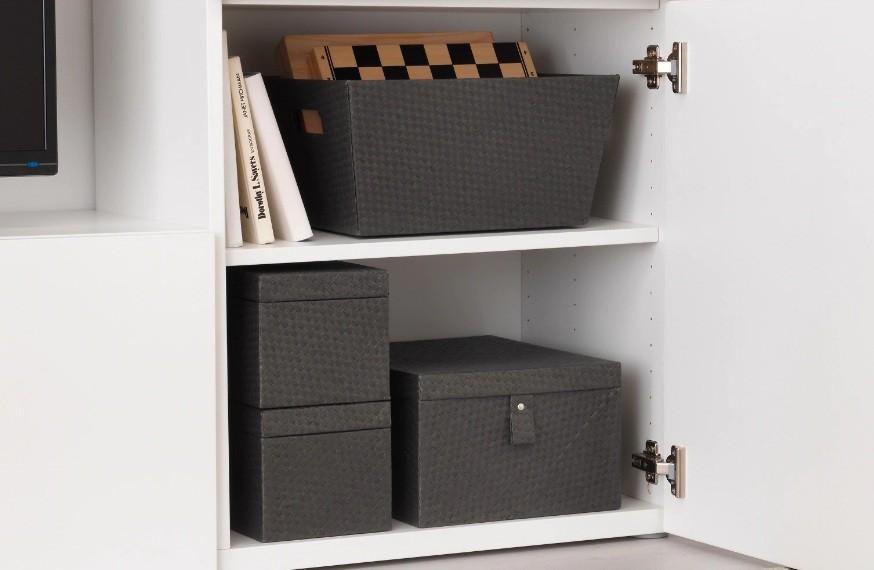 Ikea Kinderbesteckset Batting Karton 3er Set Korb Einer