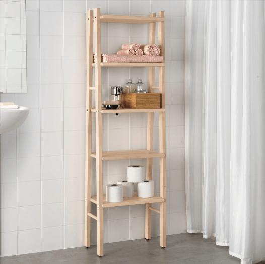 IKEA VILTO Badezimmer Regal Bad Handtuchständer Holz Birke