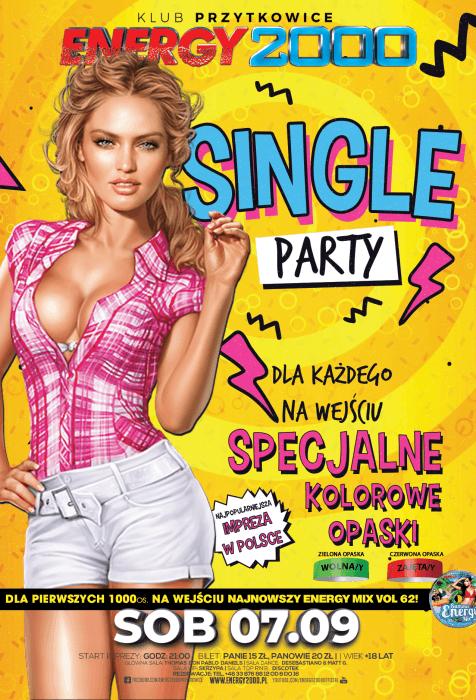 Energy 2000 (Przytkowice) - SINGLE PARTY ★ Znajdź swoją miłość (07.09.2019)