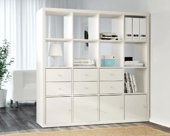 ikea kallax regal einsatz mit t r schublade 2 fach birke expedit schrank ebay. Black Bedroom Furniture Sets. Home Design Ideas