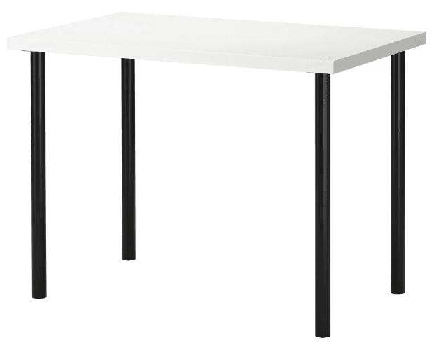 Ikea linnmon adils tisch weiß schwarz schreibtisch bürotisch